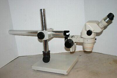 Olympus Sz-6045 Stereozoom Microscope Boom Stand Nice