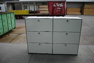 USM Haller Sideboard mit 2 x 3 Klappen in weiß U172