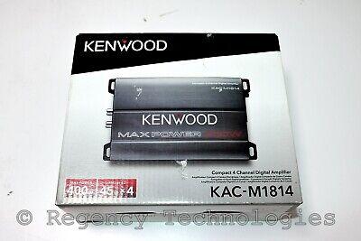 AMPLIFICADOR PUENTE KENWOOD CLASE D | 400W | KAC-M1814 | GRIS | NUEVO