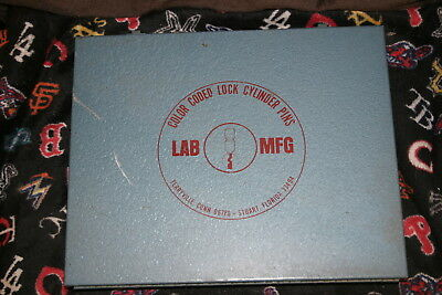 LAB MFG CO. No.80 Color Coded Comparative Replacement Lock Cylinder Pin Kit USED