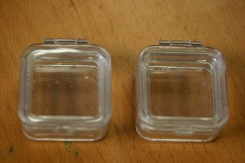 "50pcs Hinged Membrane Acrylic Elastic Box 2"" x 2"" for Gemstones, Coins, Fragile"