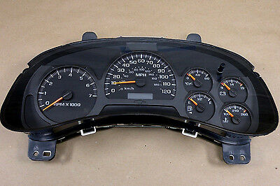 CHEVY TRAILBLAZER INSTRUMENT GAUGE CLUSTER SPEEDOMETER REMAN REBUILT 2002-2005