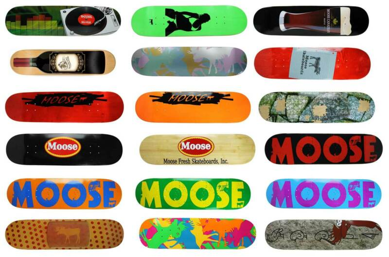 Moose Skateboard Deck Canadian Maple - Choose Graphic and Size