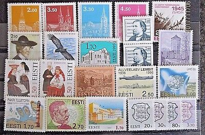 Estonia Various Issues From 1990's. MNH.