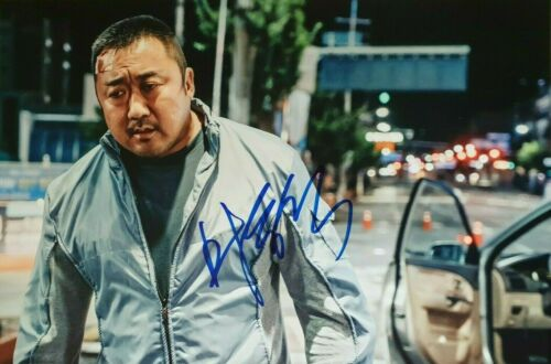 MA DONG-SEOK In-Person Signed Autographed Photo Train To Busan Outlaws Eternals