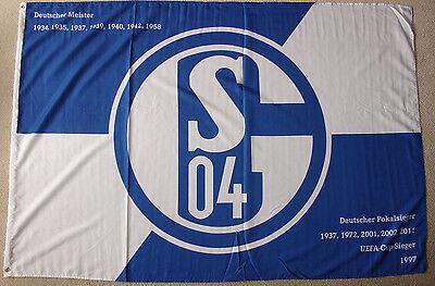 FC Schalke 04  100 x 150 cm mit 2 Ösen Fahne Flagge Gelsenkirchen