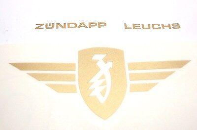 Zündapp Flügel Aufkleber Gold 3 x 7 cm