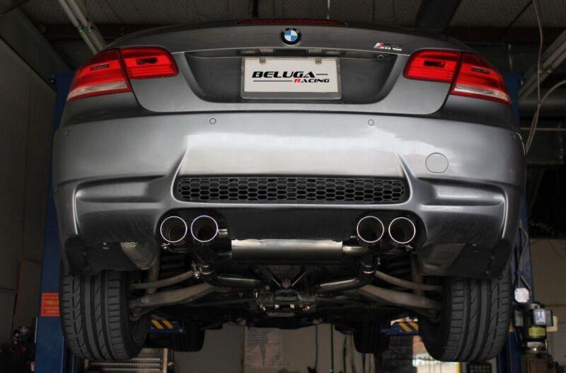 Beluga Racing 2008-2013 Bmw M3 E90 E92  True Dual Performance Exhaust Bevel Tips