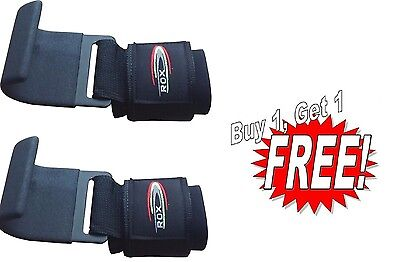 Rox Gym Weight Lifting Hooks Straps Hand Bar Wrist Brace Gloves Buy 1 Get 1 Free