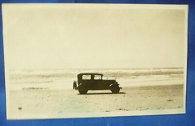 Picture of Vintage Car on Beach Oregon Coast