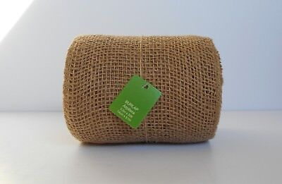 JUTE BURLAP Ribbon Roll, Natural Tan, Unwired Finished Edge, 10 yards 5.5