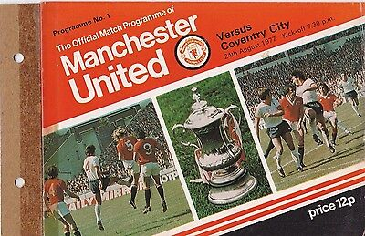 MANCHESTER UTD V COVENTRY CITY 1ST DIVISION 24/8/77