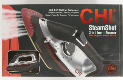 CHI STEAMSHOT 2-in-1 IRON + Steamer Model 13108 NEW