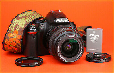 Nikon D3000 DSLR Camera Body + Nikon 18-55mm II Zoom Lens Kit + 12,575 Shots