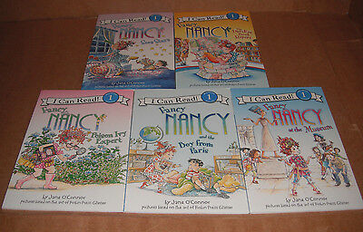 Lot of 5 Fancy Nancy I Can Read Books by Jane O'Connor Paperback NEW