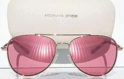 NEW* MICHAEL KORS AVIATOR w ROSE GOLD semi-mirrored San Sunglass MK1045