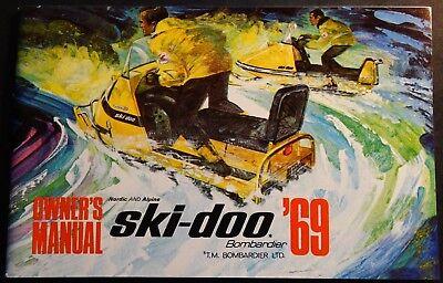 VINTAGE 1969 SKI-DOO NORDIC & ALPINE SNOWMOBILE OWNERS MANUAL BRAND NEW (Alpine Steel Skis)