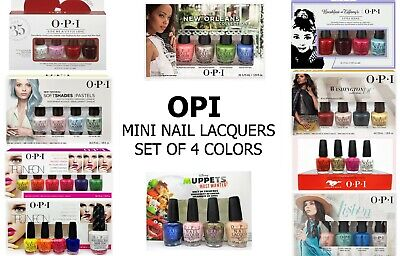 🎄🎄CHRISTMAS'S Gift Set: OPI Mini Nail Lacquer(Set of 4 from Diff. Collections) ()