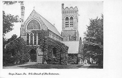 Bryn Mawr Pennsylvania Pe Episcopal Church Of The Redeemer Ivy Covered 1905 B W