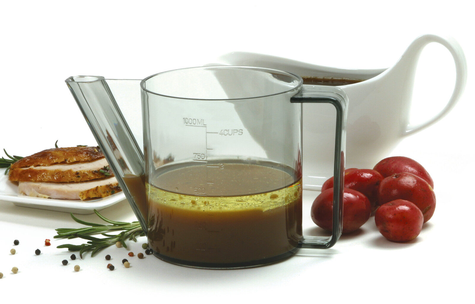 Norpro 3024 Gravy Fat Separator Meat Juice Measurer With Dripless Spout 4 Cup on sale
