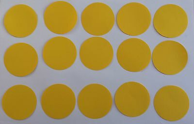 15 Kreise Gelb Tonpapier 5,8 cm Stanzteile/Streuteile (Gelber Kreis Papier)