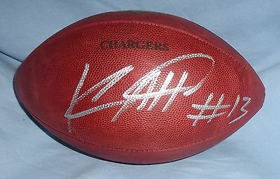 Keenan Allen Signed Official on Field Chargers Game Ball Football PSA/DNA COA RG