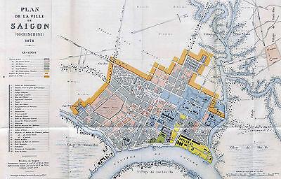 Map of Saigon 1878  Print