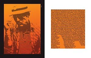 Hunter S Thompson - Fear & Loathing Typographic Art Para Hills Salisbury Area Preview