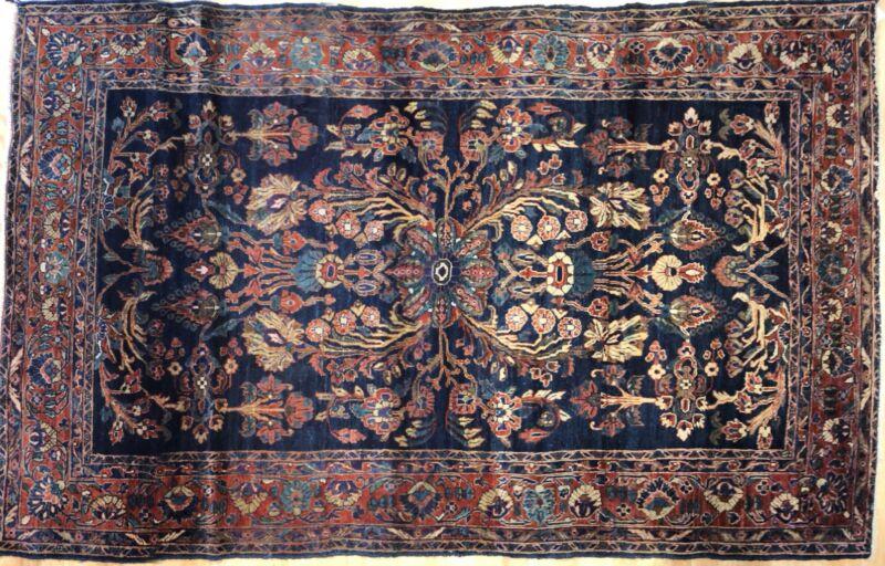 Majestic Mohajeran - 1920s American Sarouk Rug - Persian Carpet - 4.5 X 6.11 Ft