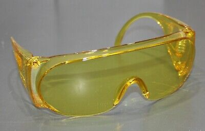 Vintage Bouton Safety Spectacles 7800003 Amber Yellow Eye Protection Goggles