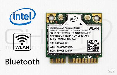 Intel Centrino Advanced-N 6235 Wlan 6235ANHMW Bluetooth 4.0 WiFi 802.11a/b/g/n  802.11 A/b/g/n Bluetooth