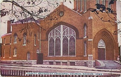 Keokuk Iowa~Trinity Methodist Episcopal Church~Stained Glass Windows~1910 ()