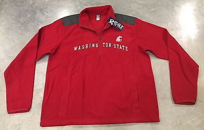 Gear For Sports Washington State Long Sleeve Quarter-Zip Pull-Over Red SZ Large