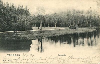 AK Tondern 1904 Parkpartie / Niebüll Leck Logumkloster Tinglev
