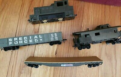 Vintage Tyco HO Scale GI Joe Special Forces 110v Trains. Set of 4.Good condition