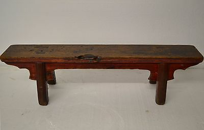 Купить Collectible Chinese Antique Wooden Low Narrow Stool Table Display Stand JAN12-06