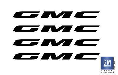 2007-2018 GMC Canyon Truck GMC Exterior Door Handle Decals (BLACK) Set of 5