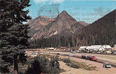 Snoqualmie Pass Wa 1967 Summit Of Snoqualmie Pass Old Cars Trucks Vintage Rl447