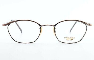 OLIVER PEOPLES L.A. Brille OP 66 MC Oval Eye Frame Copper Fancy  + PRADA Case