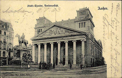 Aachen Nordrhein-Westfalen AK 1903 Stadttheater Theater Cremer nach Köstrit gel.