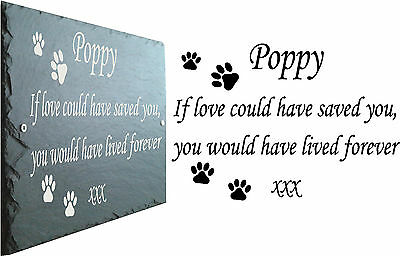Pet Memorial Slate Sign Plaque - Personalised for your loved one - Grave Marker