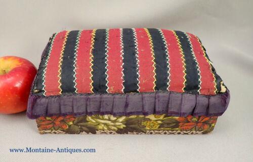 Antique Pin Cushion Box c. 1800s