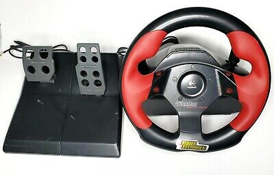 Logitech Wingman Formula Force GP Racing Steering Wheel w/Gas Pedals PC USB for sale  Shipping to South Africa