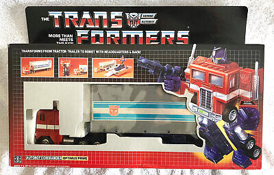 G1 1984 OPTIMUS PRIME BOXED #2 • 100% COMPLETE • GENERATION ONE TRANSFORMER