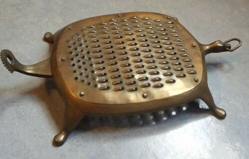 Antique Brass Turtle shaped grater India