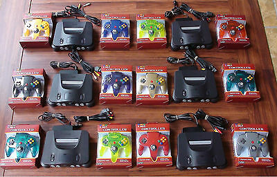 N64 Nintendo 64 Console + UP TO 4 NEW CONTROLLERS + Cords + CLEANED INSIDE & OUT ()