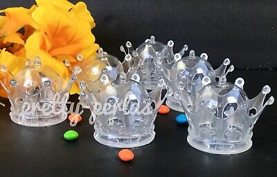 12Fillable Clear Crown For Baby Shower Favors Party Decorations Crowns Boy/Girl](Baby Showers For Boys)