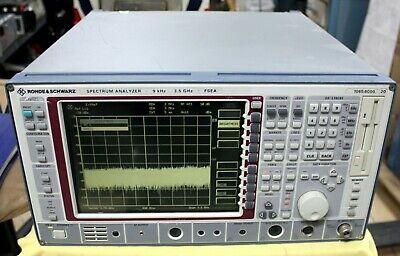 Rohde Schwarz Fsea 20 Spectrum Analyzer 9 Khz - 3.5 Ghz