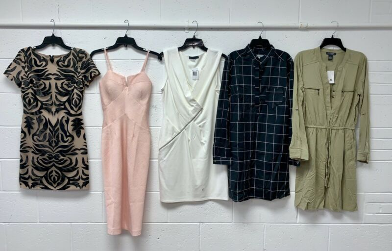 LOT OF 50 Women's NEW CONTEMPORARY CLOTHING MIXED DESIGNERS w and w/o Tags XS-XL
