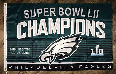 Philadelphia Eagles NFL Super Bowl Championship Flag 3x5 ft Banner Flag Man-Cave
